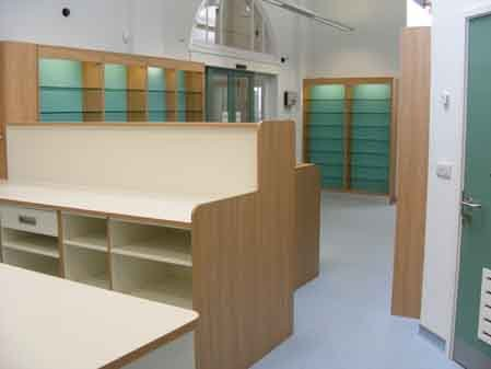 View of the renovation work done at the Bexhill Pharmacy