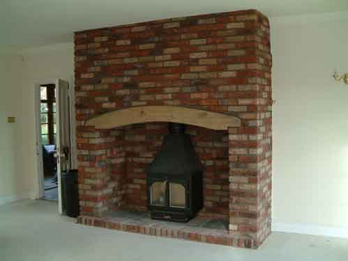 Fire place at the Sussex farmhouse