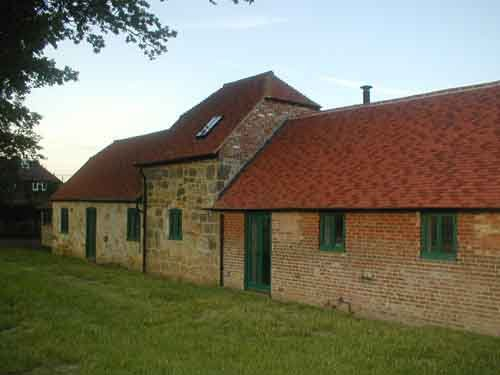 View of the building at the beestons farm