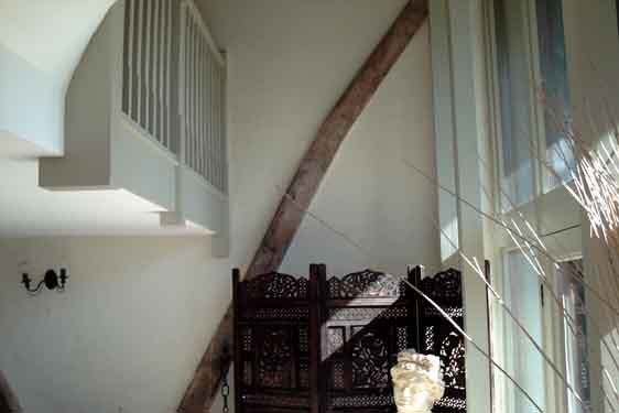 View of the staircase at the farmhouse