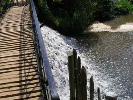 View of the flowing water from the bridge