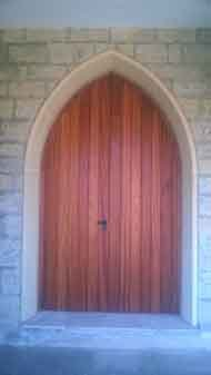 Wooden entrance church gate