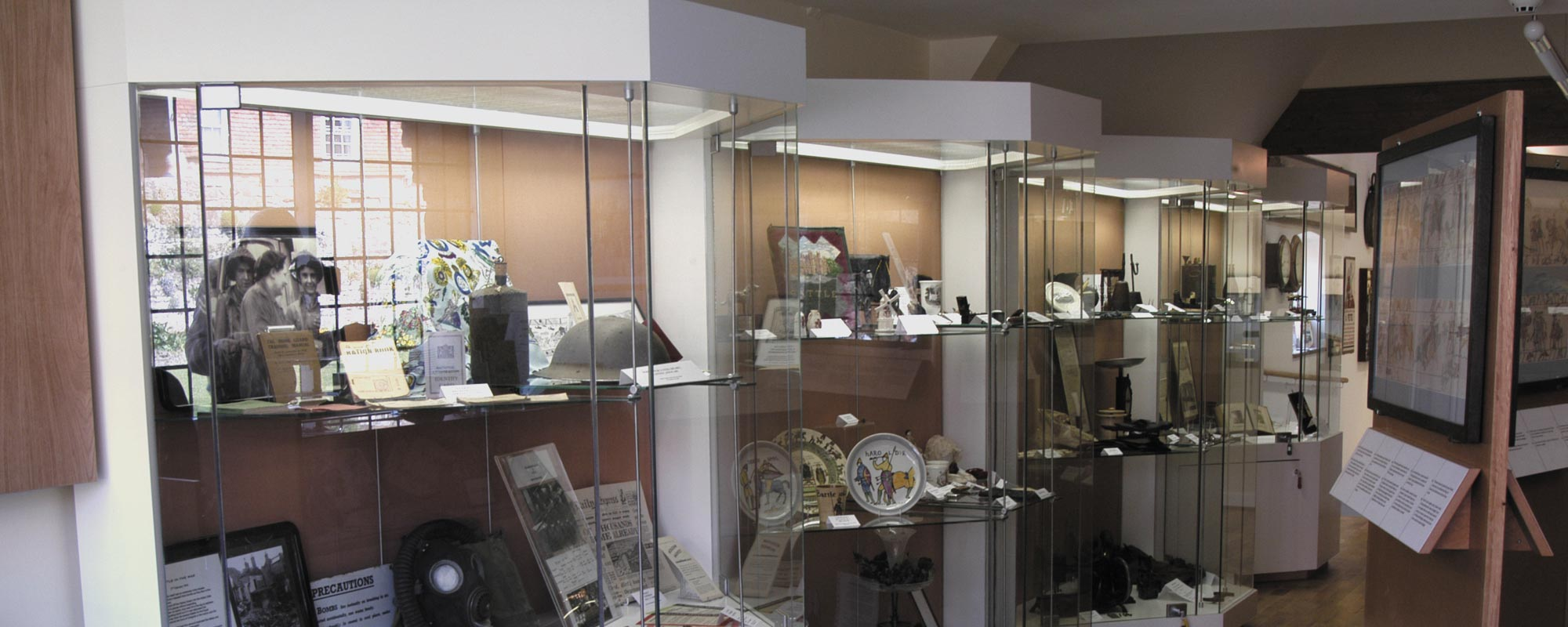 View of the collectables being displayed
