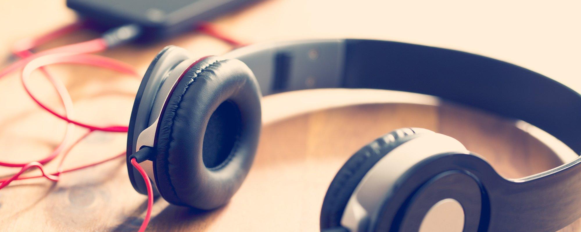 View of headphones