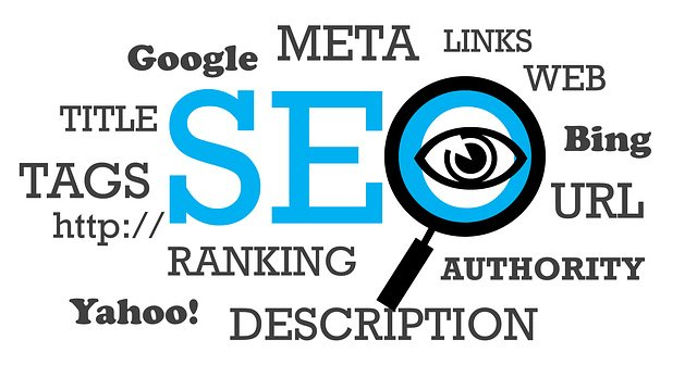 seo terms such as meta, ranking, description, title tags and more