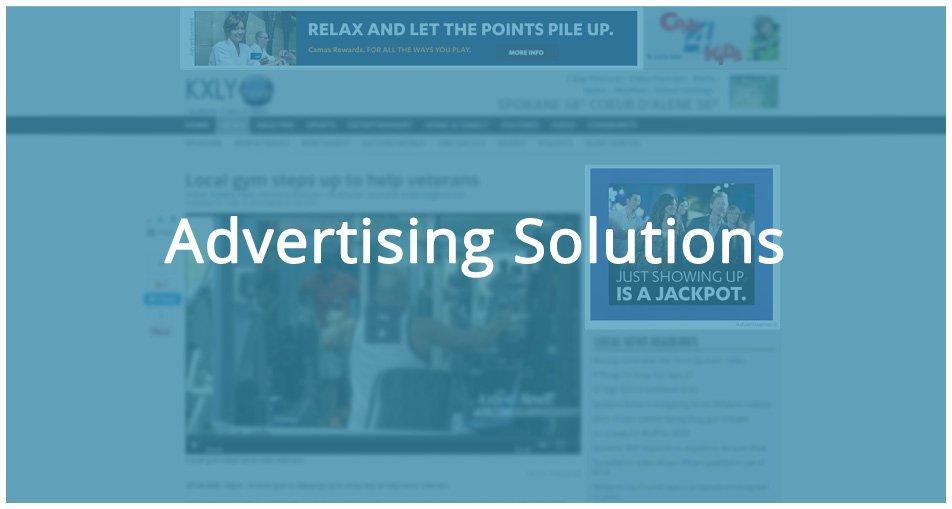 advertising solutions on a desktop website