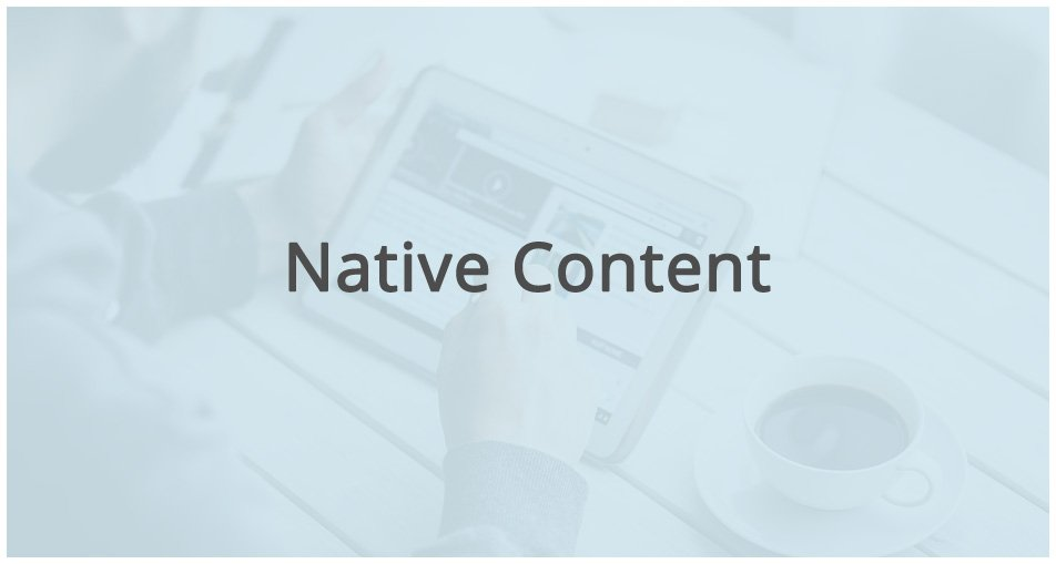 reading native content on a ipad or tablet