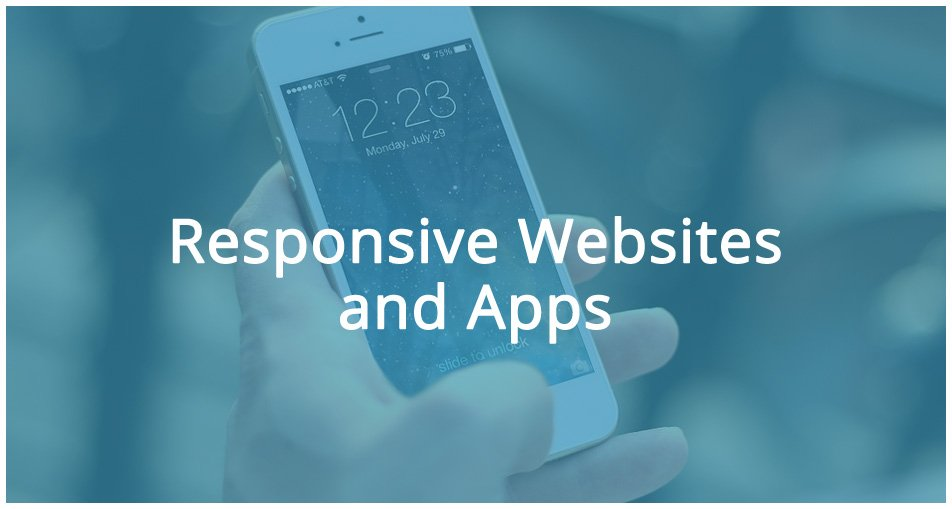 responsive websites and apps on a mobile phone
