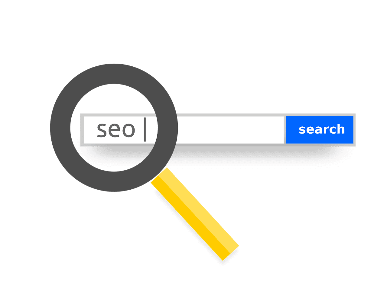a search engine open with seo typed into the search bar