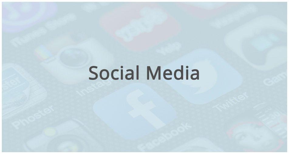 social media icons, facebook, instagram, twitter, yelp