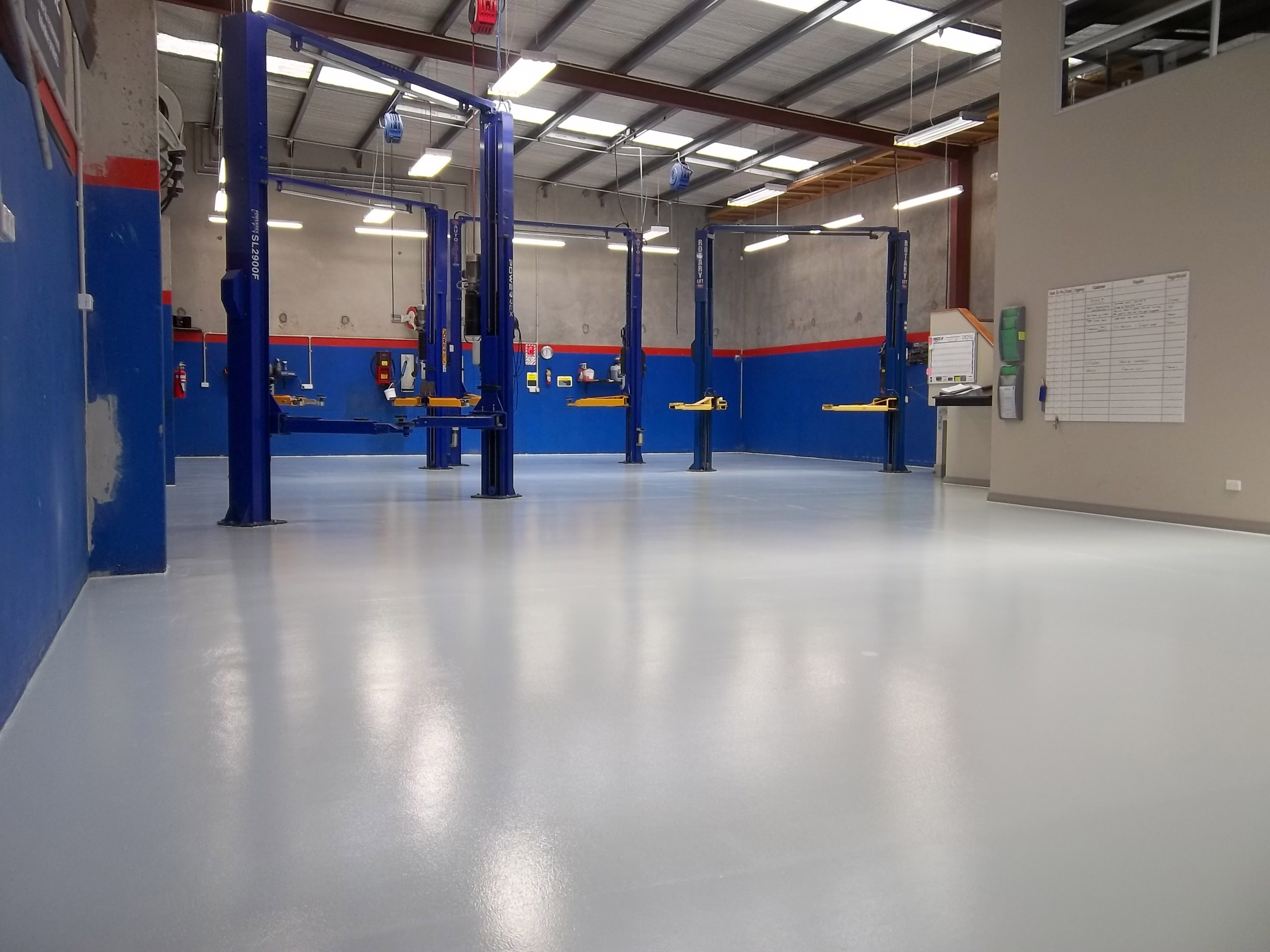 Factory flooring in Christchurch by Profloor 2000 Ltd
