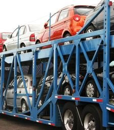 Cars being transported