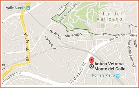 www.google.it/maps/dir/''/antica+vetreria+monte+del+gallo/@41.897236,12.3811623,12z/data=!3m1!4b1!4m8!4m7!1m0!1m5!1m1!1s0x132f606de11d5e23:0x53745365edb609c3!2m2!1d12.4512028!2d41.8971295