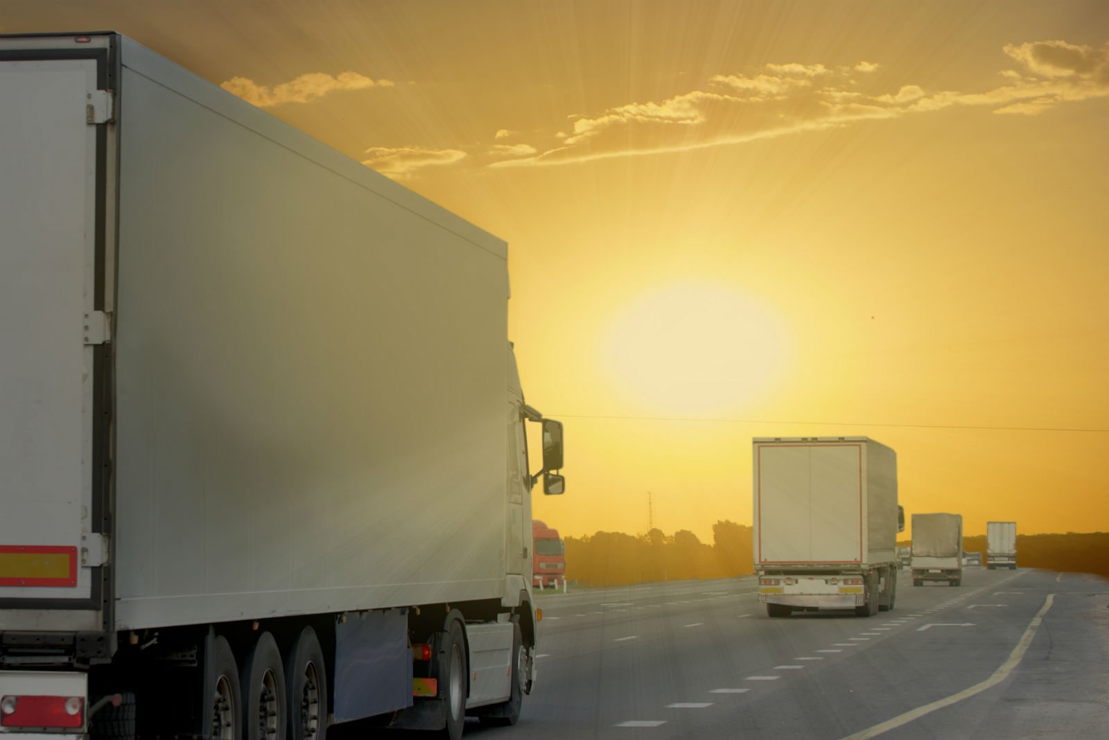 camion per Traslochi Internazionali