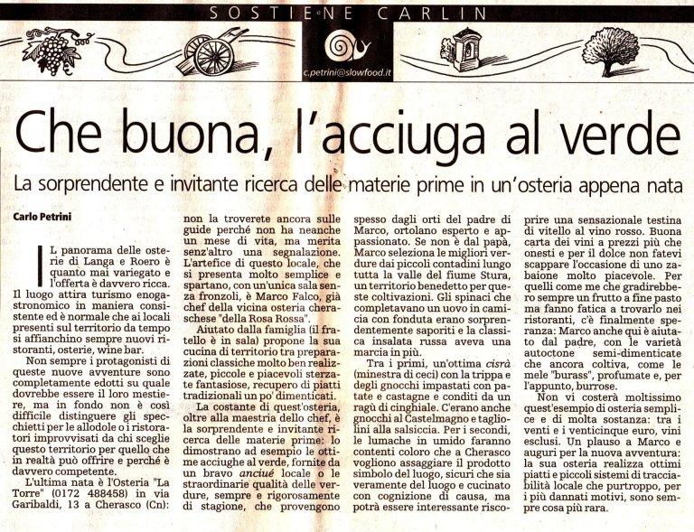 articolo Petrini