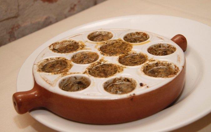 piatto tipico lumache