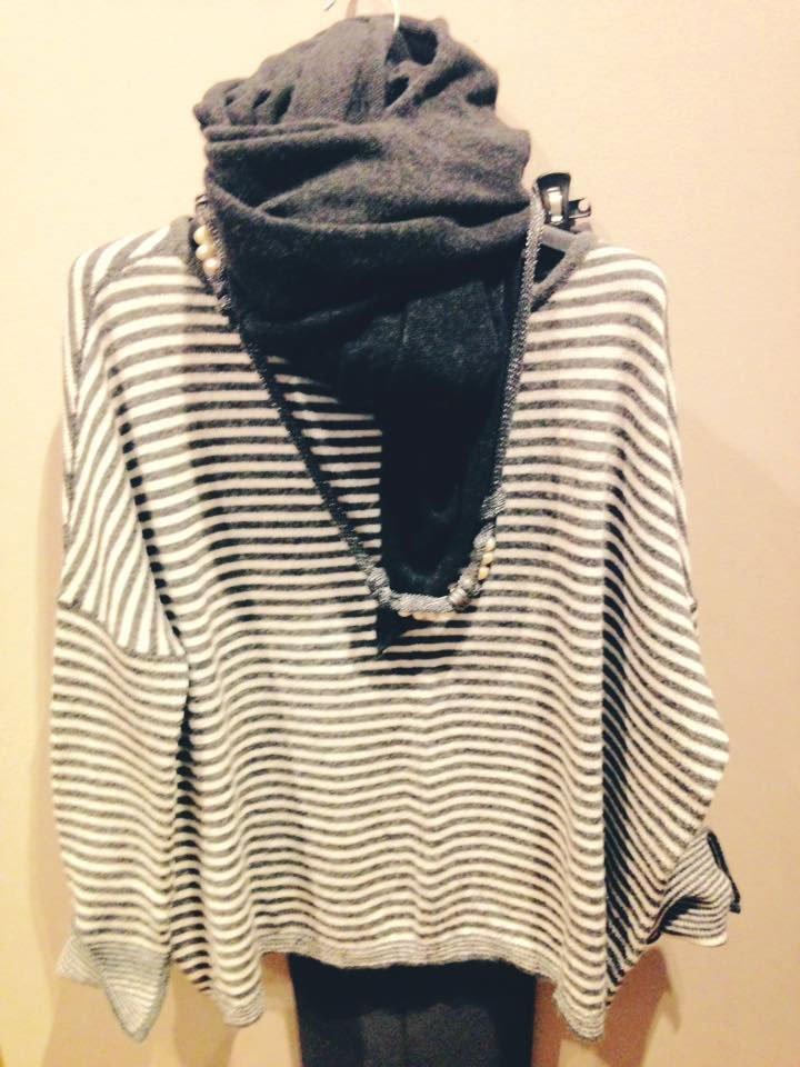 sciarpa e maglione donna