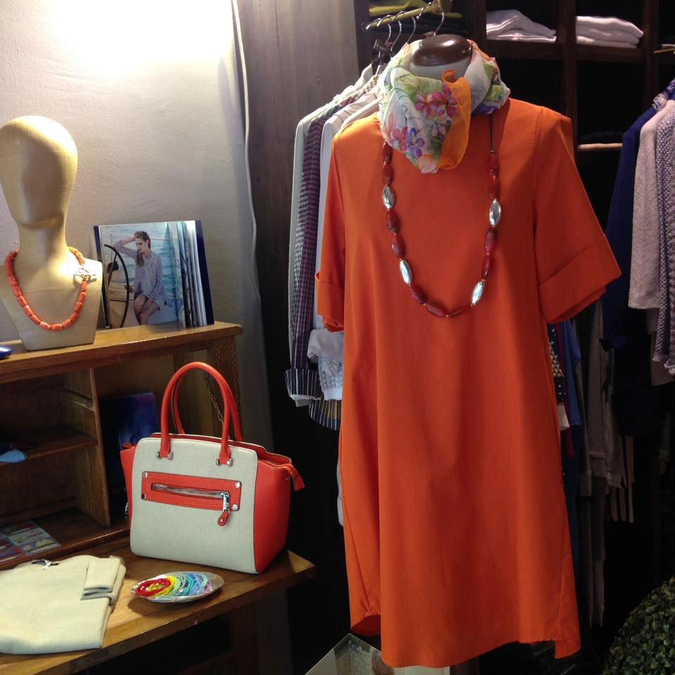 vestito arancione per donna