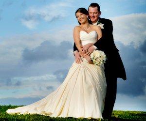 Newly wedded couple's wedding photographer