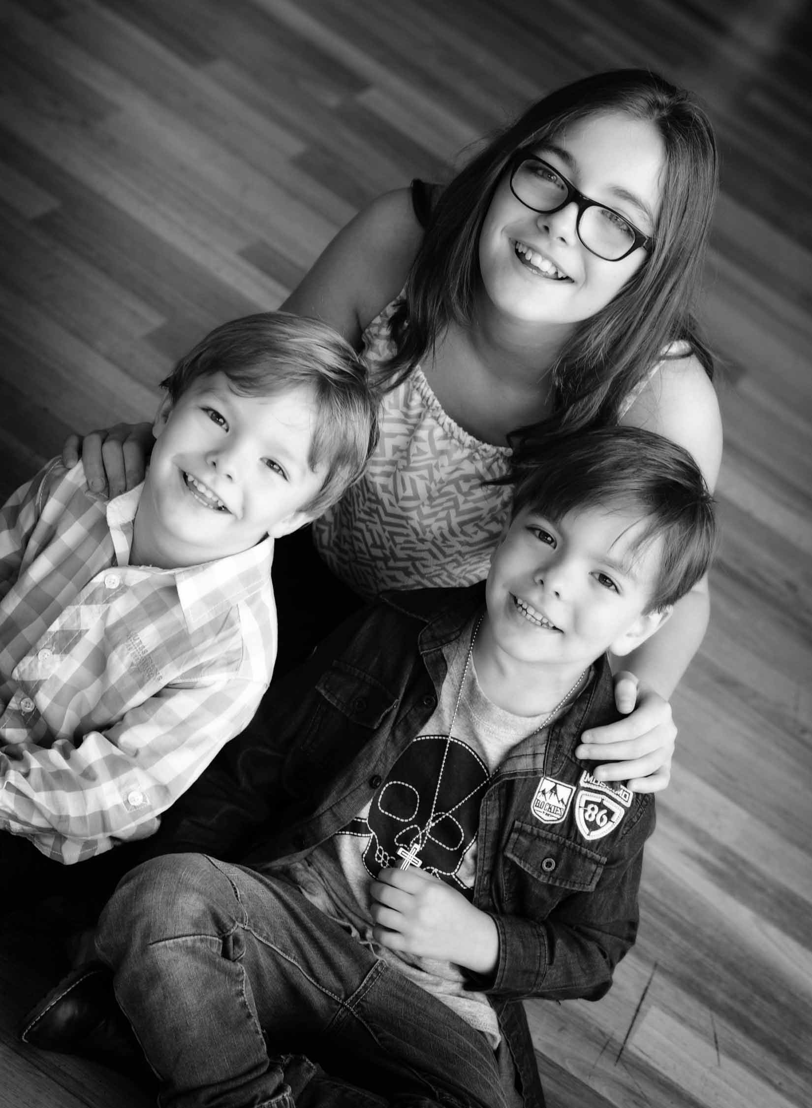 Brothers and elder sister portrait