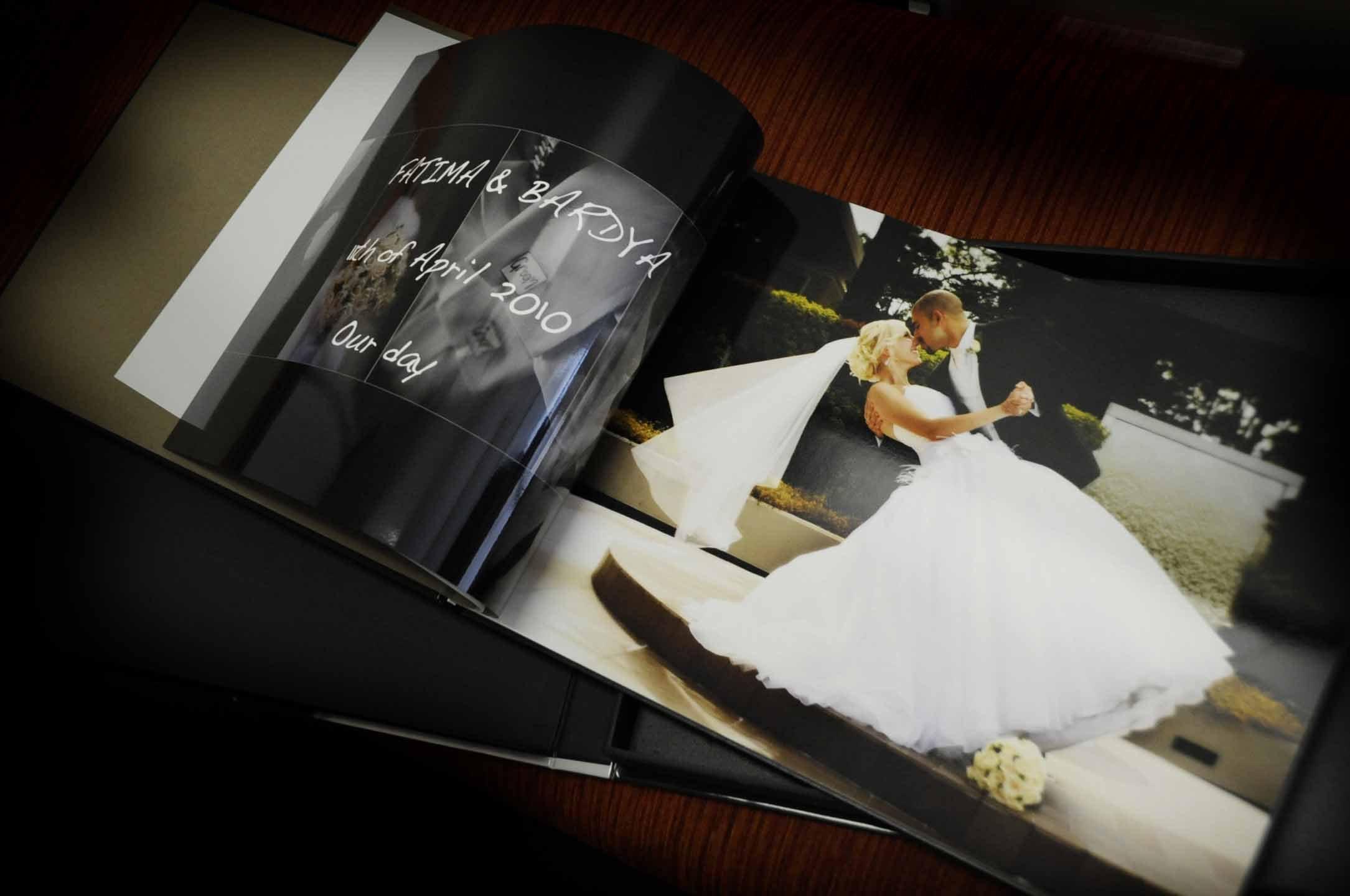 Personalised wedding album
