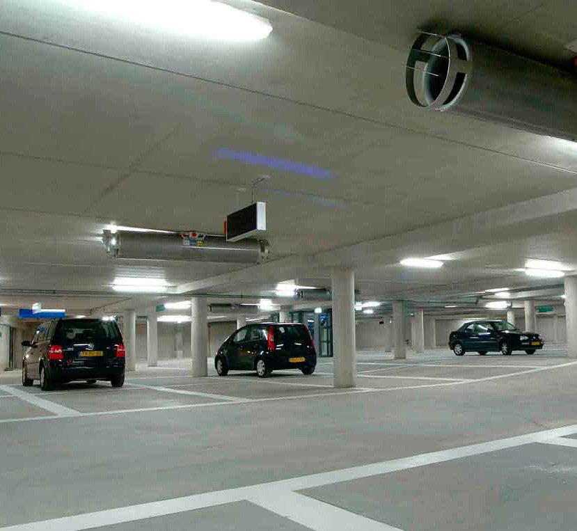 the saver group led lighting in parking area