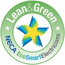 the saver group neca lean green logo