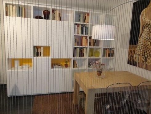 libreria componibile, tavolo allungabile, tavolo legno massello, sedia, policarbonato