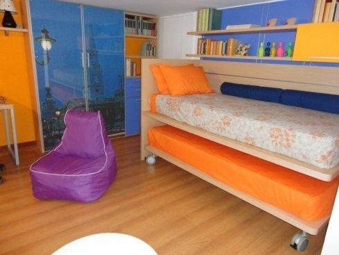 poltrona, pouf, camera per ragazzi, armadio display cia international, letto con secondo letto, letto estraibile