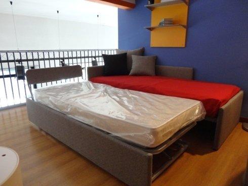 Letto singolo, camere per ragazzi, secondo letto alzabile, rete a doghe, frisetti arredamenti