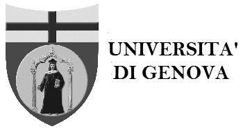 Logo -  Universitá di Genova
