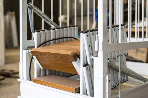 scala retrattile in legno