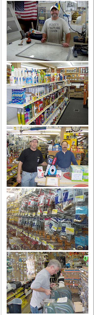 Pictures from inside of our store of hardware products in Rochester, NY
