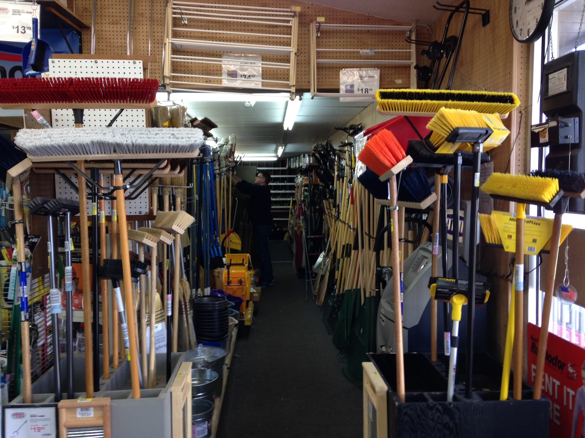 Just in time for Spring we have a new selection of Brooms, Rakes, and anything else you need for Spring Cleaning