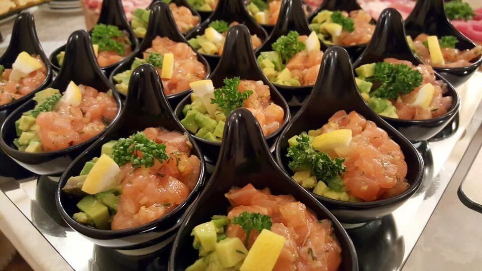 piatto speciale di salmone