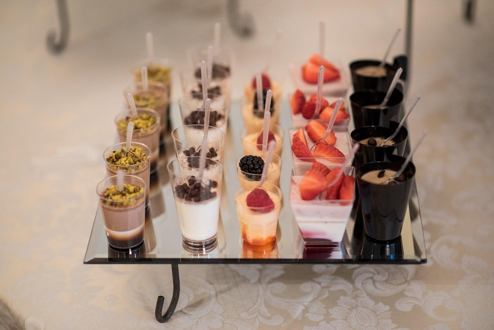 vassoio  con dessert