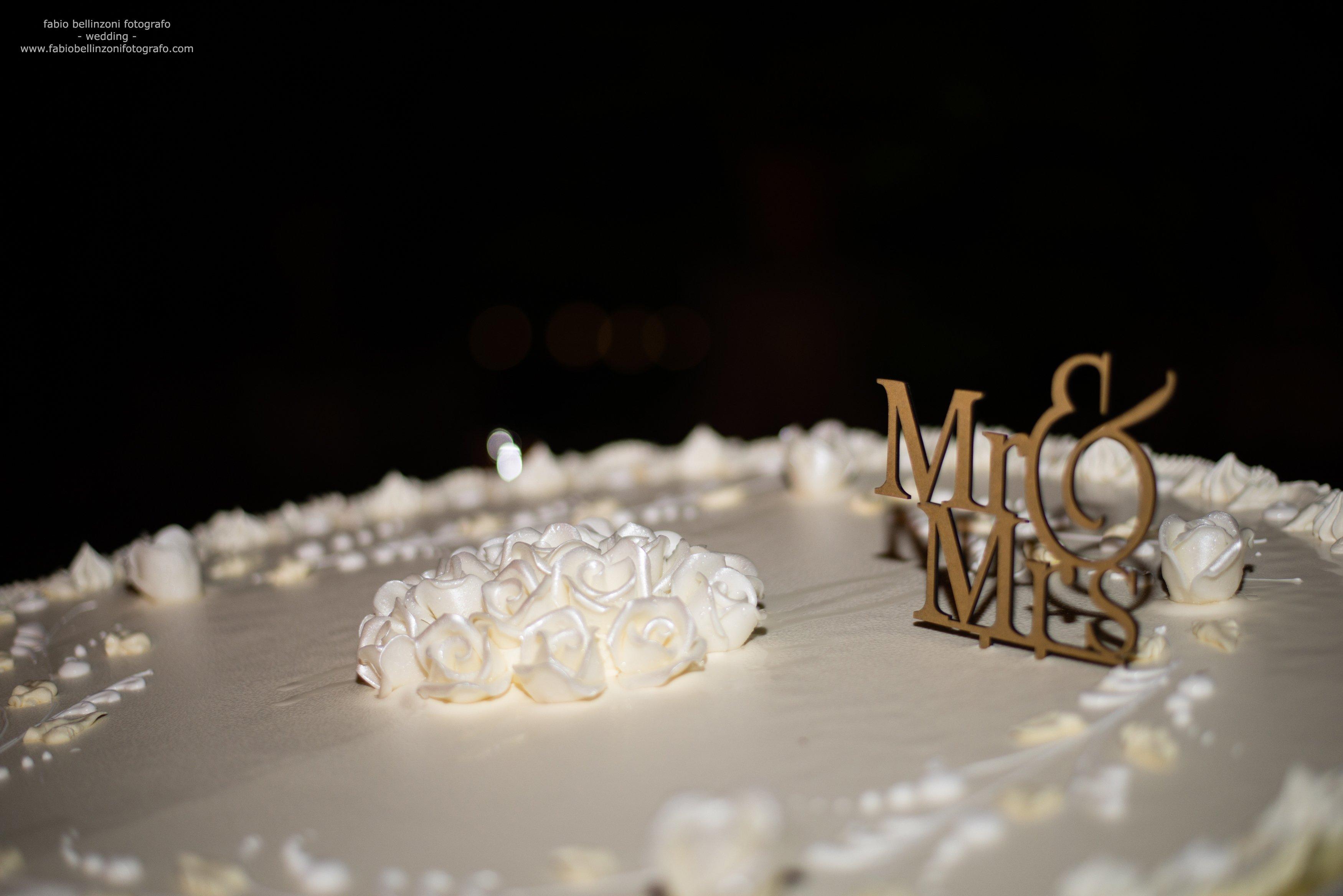 primo piano di una torta matrimoniale