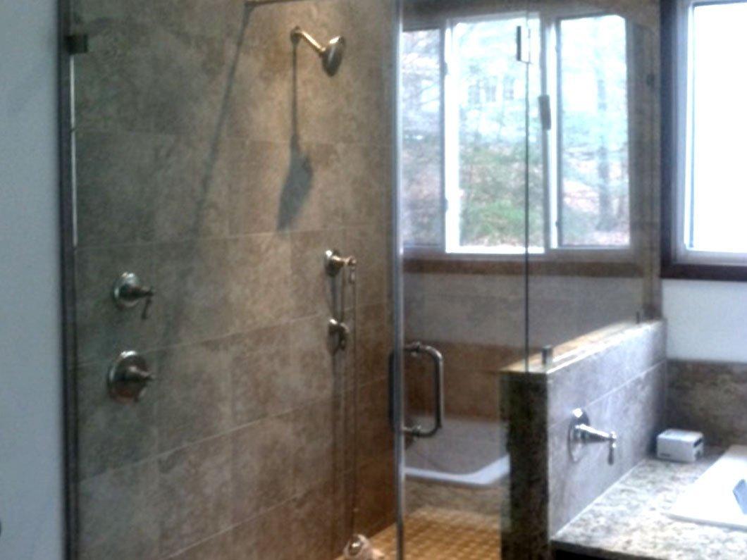 Plate Glass Shower Enclosure
