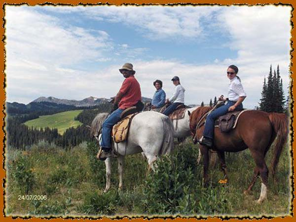 Bridger - Teton National Forest in Western Wyoming horse back trip