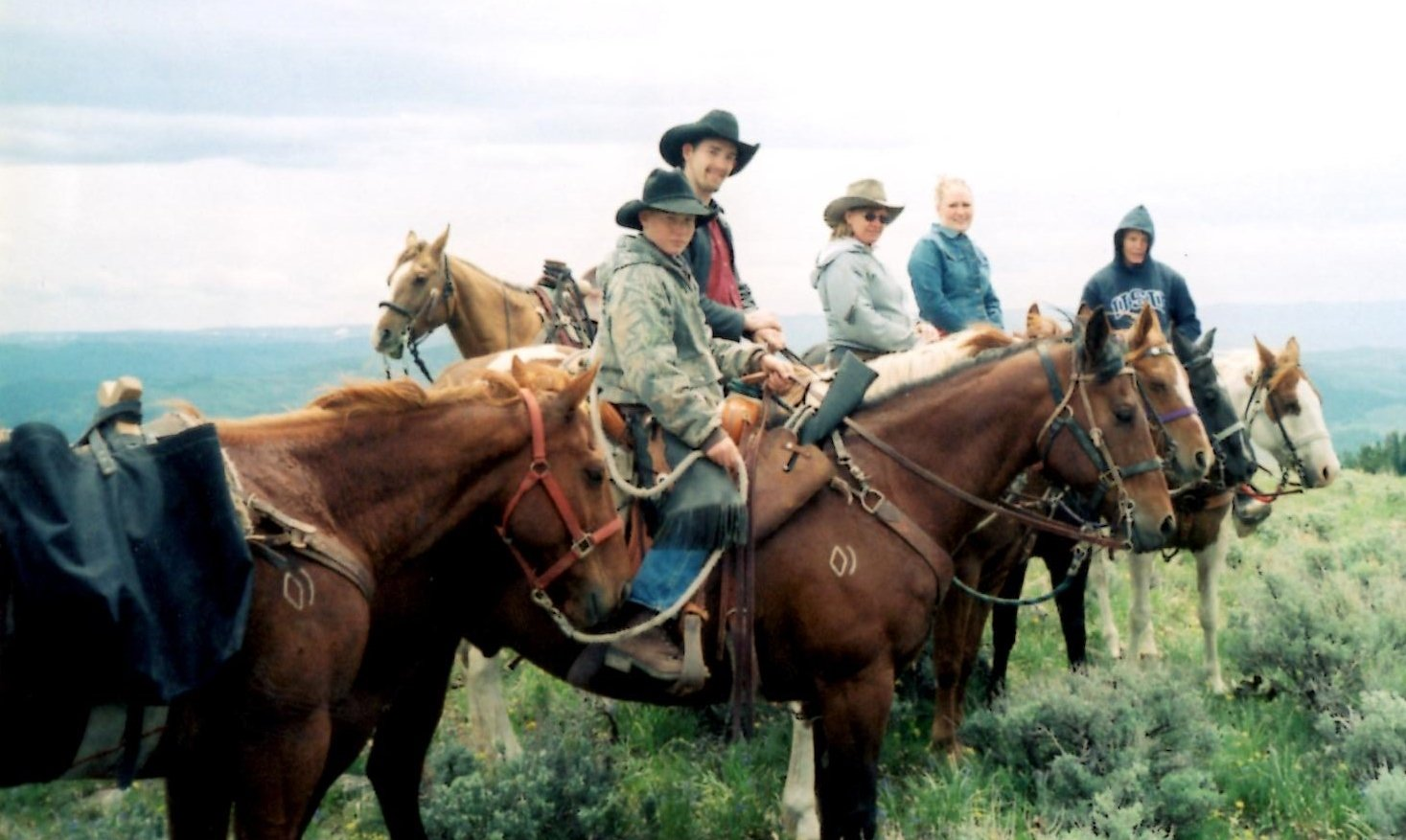 Wyoming pack trip Bridger - Teton National Forest in Western Wyoming