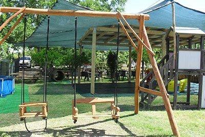 Area giochi per bambini all'agriturismo Cip e Ciop in Postiglione