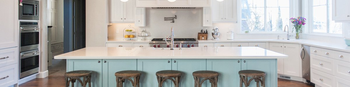 gateway manufacturing green colour modern kitchen