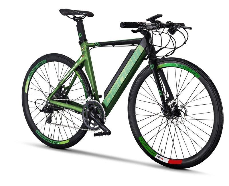 bicicletta elettrica benelli verde