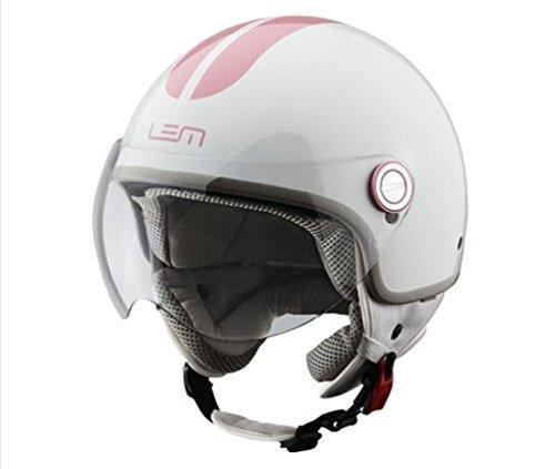 casco bianco e rosso