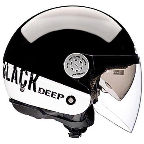 casco bianco  e nero