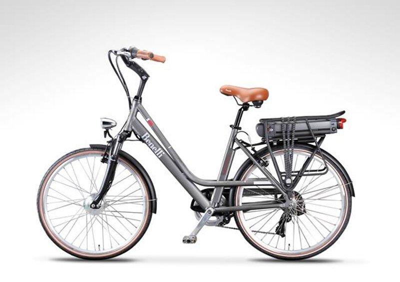 bici elettrica benelli grigia