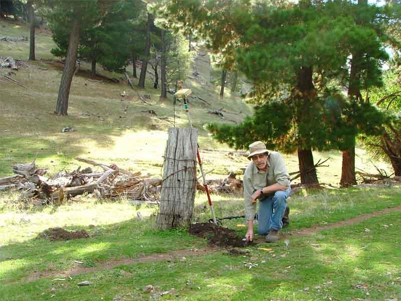 digging for survey marks