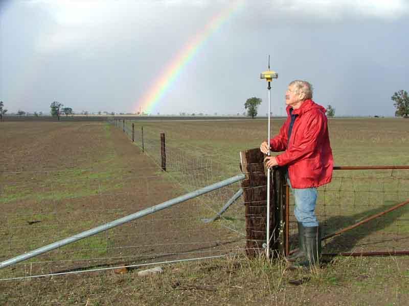 gps survey with rainbow