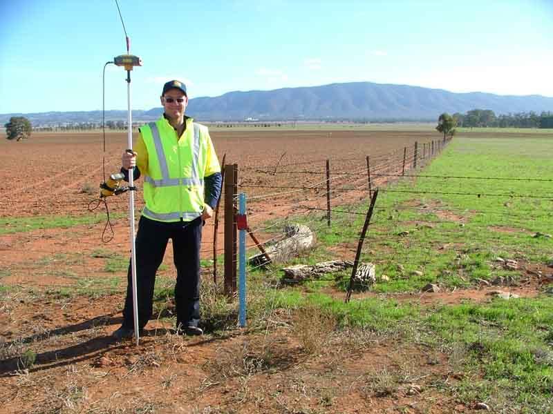 surveyor in field