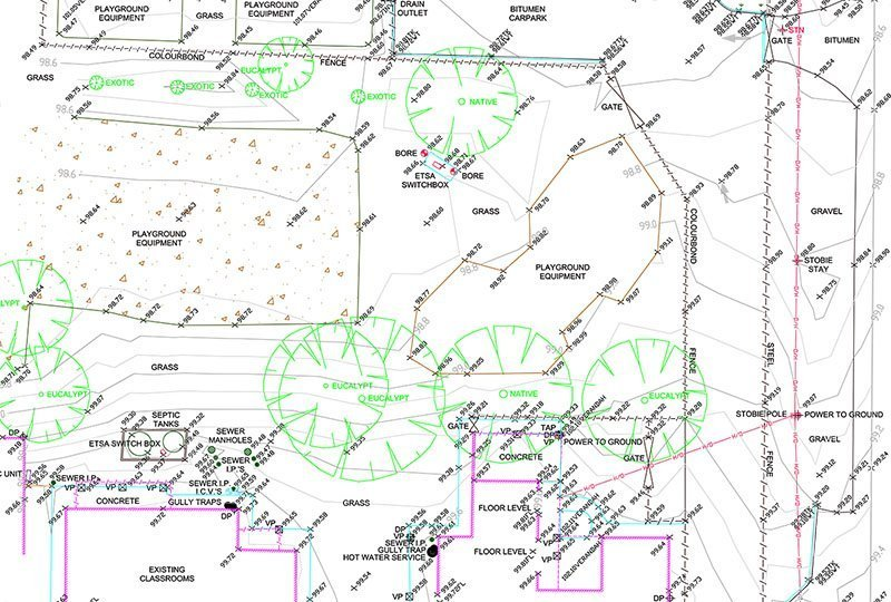 detailed survey school map